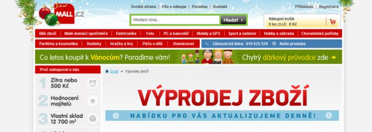 Vánoční slevy na Mall.cz