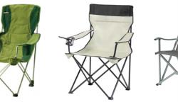 Kempingové skládací židle Coleman, Vango a Envy