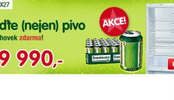 Kombinovaná lednice Bosch KGV 39X27 + 16 l piva Staropramen Zdarma